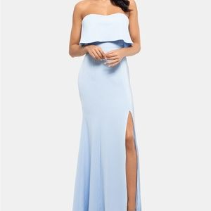 XSCAPE NEW Strapless Popover Evening Gown Dress